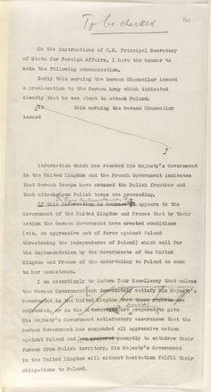 World War II ultimatum letter Poland Ww2, Invasion Of Poland, Appeasement, Building An Empire, German Army, World War Two, Secretary, First World, Newspaper