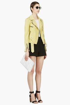 PROENZA SCHOULER Black Stretch Cotton High-Waisted Shorts
