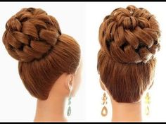 Wedding hairstyle, evening hairstyle, hairstyle for prom. Wedding prom hairstyle