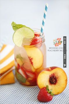 Our signature drink. (: Wedding Chicks Peachberry Mojito | CHECK OUT MORE IDEAS AT WEDDINGPINS.NET | #weddingfood #weddingdrinks