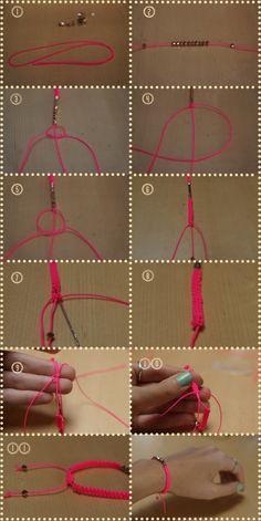 DIY bracelet : Neon + rose gold!