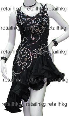 Custom-made Ballrom Latin Salsa Rumba Samba Jive Dance dress #667
