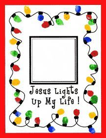 "Preschool Christmas Crafts Jesus | Jesus Lights Up My Life"" Thumbprint Craft for Sunday School"