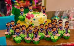 Customized caleb and sophia cake and cupcakes