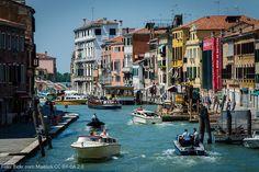 Summer traffic in Venice.