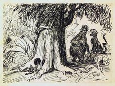 Ken Anderson - Jungle Book Visual Development Animation Sketches, Animation Film, Disney Animation, Walt Disney, Disney Fun, Disney Animated Films, Disney Artists, Disney Concept Art, Disney Sketches