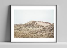 Limited edition signed photographic print by Anna Partington - 'Lost in the dunes' - Norfolk sand dune beach Norfolk Coast, Pink Rose Flower, The Dunes, Scenery, Anna, Lost, Beach, Frame, Artist