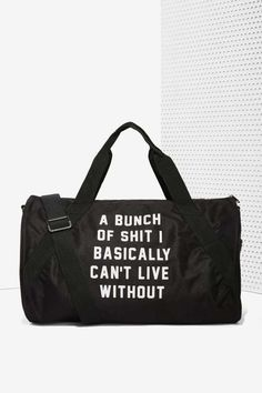 Danielle Guizio Important Sh*t Duffel Bag - Work Hard, Play Harder