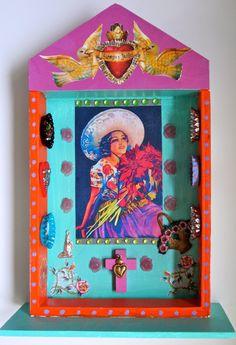 Shadow box shrine- Carol Mortenson, MORICA on Etsy