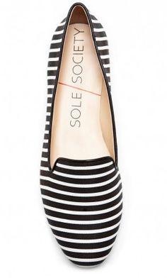 Black & White Striped Smoking Slipper