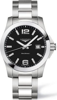 @longineswatches Conquest Mens #add-content #bezel-fixed #bracelet-strap-steel #brand-longines #case-material-steel #case-width-41mm #date-yes #delivery-timescale-1-2-weeks #dial-colour-black #gender-mens #luxury #movement-quartz-battery #new-product-yes #official-stockist-for-longines-watches #packaging-longines-watch-packaging #style-dress #subcat-conquest #supplier-model-no-l3-759-4-58-6 #warranty-longines-official-2-year-guarantee #water-resistant-300m