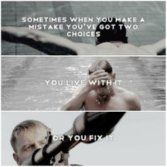 Sometimes when you make a mistake you've got two choices; you live with it, or you fix it.