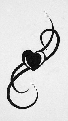 Image result for images of tattoos with heart and infinity