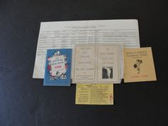 For your consideration is a Lovely, Vintage- Set of (5) Ephemera Booklets papers 1930's-1960s.  They are as follows:  1. Pan American Airways, Inc. -