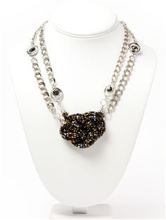 Liliana Necklace - Instructions here: http://www.primabead.com/Liliana-Necklace-P6778.aspx?source=pinterest #PrimaBead #Jewelry #Necklace