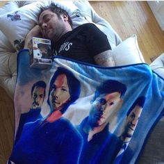 Mark Sheppard hehe<<I have a SPN blanket, but it's just Sam, Dean, and Cas. Sam Dean, Sammy Supernatural, Dean Castiel, Supernatural Blanket, Mark Sheppard Supernatural, Supernatural Quotes, Jared Padalecki, Sam Winchester, Winchester Brothers