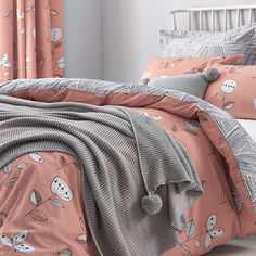 Elements Sunflower Coral Bed Linen Collection | Dunelm
