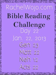 Day 22 Bible Reading Challenge
