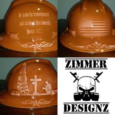 custom painted faux leather hard hat