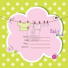 Baby shower invitation with copy space Stock Photo