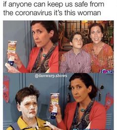 If anyone can keep us safe from the coronavirus it's this woman - iFunny :) Stupid Memes, Stupid Funny, The Funny, Dankest Memes, Funny Memes, Hilarious, Jokes, Funny Stuff, Funny Things