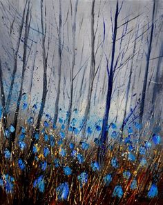 Blue in the Wood by Pol Ledent