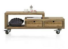 Modrava, salontafel 120 x 70 cm + Grey Drawers, Coffee Table Design, Coffee Tables, Handmade Art, Decoration, Entryway Bench, Interior Design, Storage, Furniture