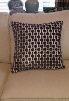 Charcoal and Ivory Circular Pattern with SelfWelting by kdHOMEofCT, $45.00