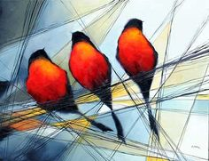 """Bird Series"" 30""x40"" Oil on Canvas by Harold Braul, available at Crescent Hill Gallery in Mississauga, ON"