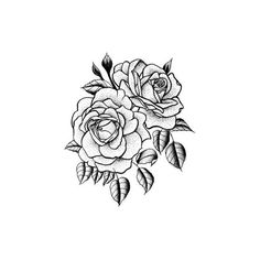 Tattify Traditional Flower Temporary Tattoo Twin Rose (Set of 2)... ($4.99) ❤ liked on Polyvore featuring accessories and body art