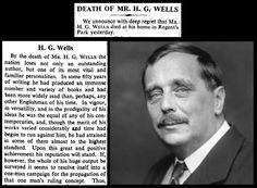 13th August 1946 - Death of H.G. Wells