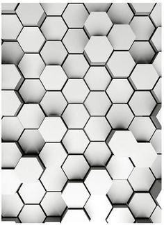 Mural Brewster Home Fashions Pentagons White Wall Pentagon Logo, Hexagon Tattoo, Homemade Modern, Black Phone Wallpaper, 3d Wall Panels, Beautiful Nature Wallpaper, Mural Wall Art, Ceiling Design, Tile Patterns