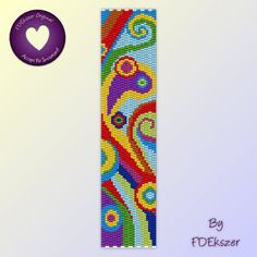 Peyote or Loom bracelet pattern: Vivid Imagination - PDF - buy 2 get 1 free mix and match offer - bp214