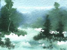 Акварель. Зимние пейзажи Sean Seal