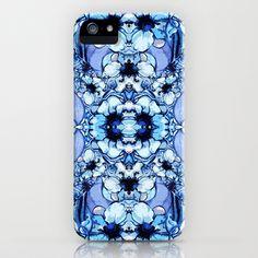 Bleu Fleur iPhone & iPod Case by Sarah Saeed - $35.00