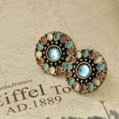 Gemma Earrings Enamel Exquisite Romance