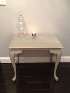 Annie Sloan chalk paint. SIDE TABLES / End Tables Very Chic by SavvyChicMichelle on Etsy, $250.00 French linen and duck egg blue