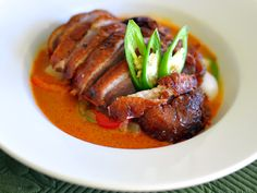 Authenti Wasy to Folllow Thai recipie | Thai Spicy Curry with Crispy Duck Recipe from the Sedthee Thai Eatery