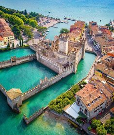 time to Travel To Italy To Italy To Italy amalfi coast To Italy budget To Italy cheap To Italy clothes To Italy outfits To Italy packing To Italy places to visit To Italy tips To Italy with kids Sirmione, Italy 🇮🇹 Photo by Travel The World ( Places Around The World, Oh The Places You'll Go, Travel Around The World, Beautiful Places To Visit, Cool Places To Visit, Places To Travel, Vacation Destinations, Dream Vacations, Nature Architecture