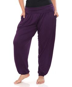 Another great find on #zulily! Purple Harem Pants - Plus #zulilyfinds