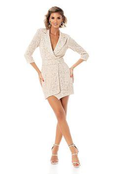 ROCHIE MINI TIP SACOU DIN PAIETE PLISATE Dresses For Work, Fashion, Moda, Fashion Styles, Fashion Illustrations