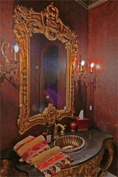 36b59db840 Mediterranean style Powder Room. Jamie Buchanan · Bathrooms Powder Rooms