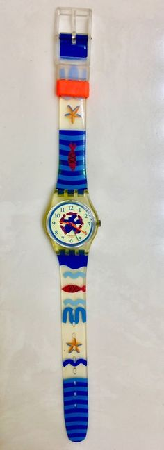 Vintage Swatch Watch 1991 Beach Ocean Fish Ladies NEW BATTERY Starfish #VintageSwatchWatch1991