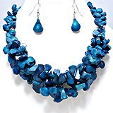 Ocean necklace set...$25.99 as shown. We accept PayPal order designzbymsj.storenvy.com