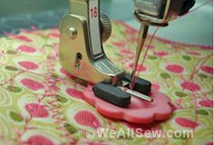 Three Little Stitches--Using the Button Sew On stitch and the 18 foot--so quick and easy! Nota bene: Do NOT hit your button to cut thread when you are finished! I have a button with a machine needle stuck in it as a reminder! Sewing Basics, Sewing For Beginners, Sewing Hacks, Sewing Tutorials, Sewing Crafts, Sewing Projects, Sewing Patterns, Sewing Tips, Love Sewing