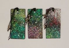 Bookmarks - Laminated Spattered Watercolour Bookmarks