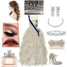 HRH Princess Margaery of Homburg attends The First Anniversary of the Saar Plebiscite of 2014 by aknappenberger on Polyvore featuring moda, Casadei, Kate Spade, Harry Winston, Fantasia and Christian Dior