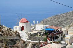 Windmill @ Olympos Karpathos Thasos, Karpathos, Windmills, Ancient Greece, Beach Fun, Greek Islands, Kos, Places, Wind Mills