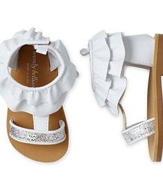 af3a349a696 Wendy Bellissimo Toddler Girls Isabella Silver Glitter Sandals Baby Girl  Sandals