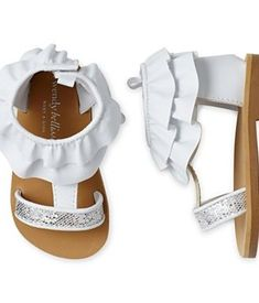 Wendy Bellissimo Toddler Girls Isabella Silver Glitter Sandals